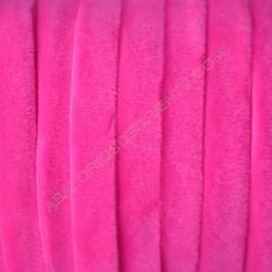 Cinta de terciopelo elástico rosa flúor