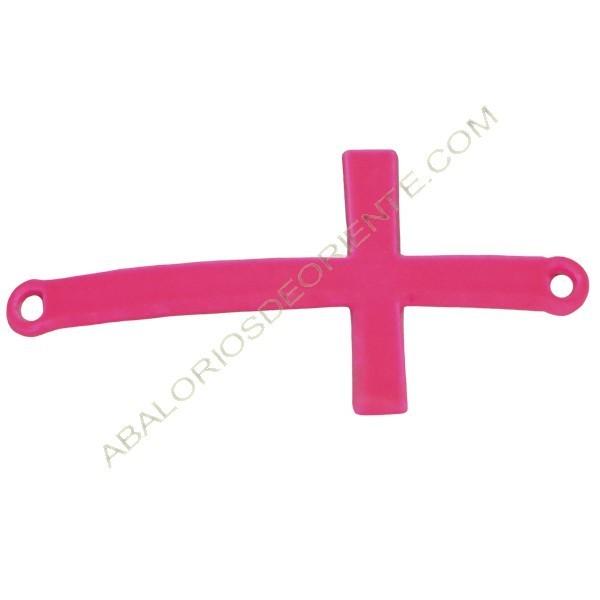 Cruz conectora rosa flúor