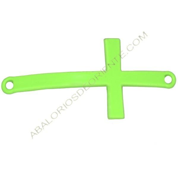 Cruz conectora verde flúor