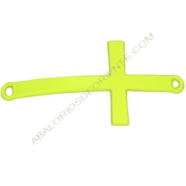 Cruz conectora amarillo flúor