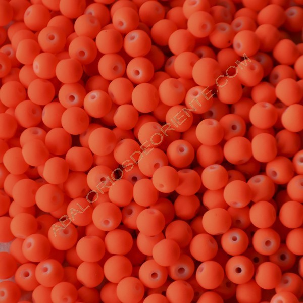 Bola acrílica naranja flúor 6 mm