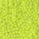 Bola acrílica amarilla flúor 4 mm