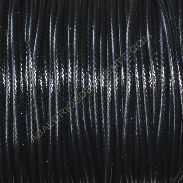 Algodón encerado brillante 2 mm negro