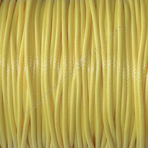 Algodón encerado brillante 2 mm amarillo