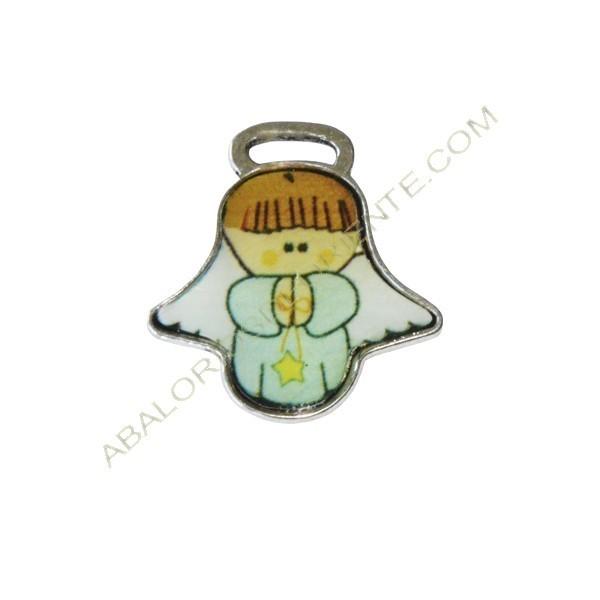 Medallas de angelito Cuídame Plis verde