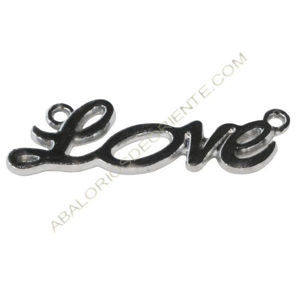 Conector de aleación de Zinc Love plateado