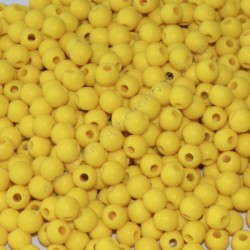 Cuenta acrílica bola 6 mm amarillo