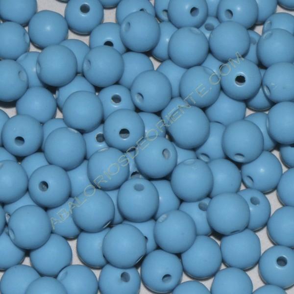 Cuenta acrílica bola 10 mm azul