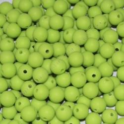 Cuenta acrílica bola 10 mm verde