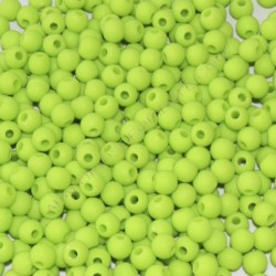 Cuenta acrílica bola 6 mm verde