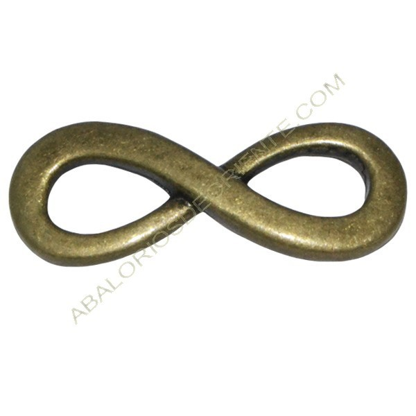 Conector Zamak infinito 13 x 34 x 3 mm bronce