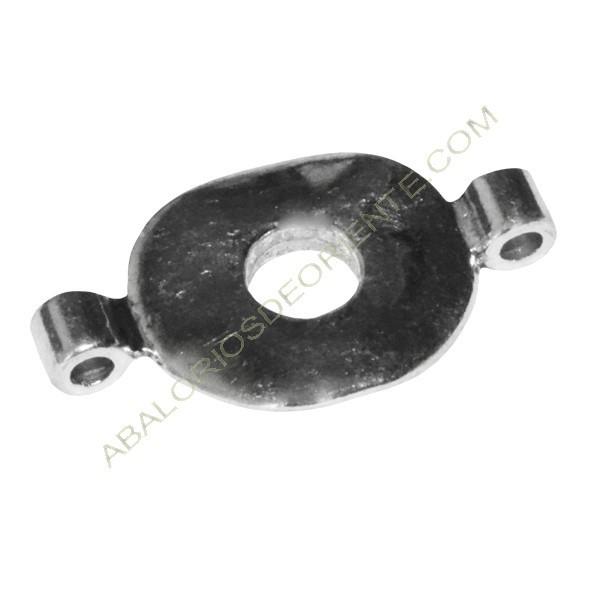Conector Zamak donut 20 x 32 x 5 mm plata vieja.