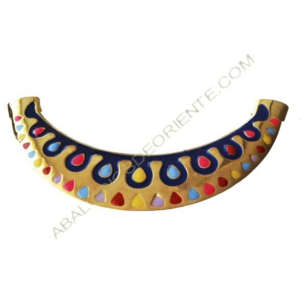 Base para collar dorado de Zamak 61 x 125 x 4 mm