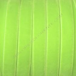 Cinta de terciopelo elástico verde flúor