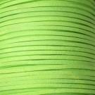 Cordón de antelina verde flúor 3 x 1.5 mm