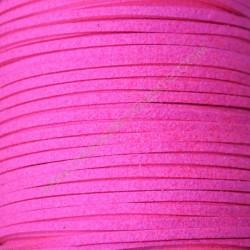 Cordón de antelina fucsia flúor 3 x 1.5 mm