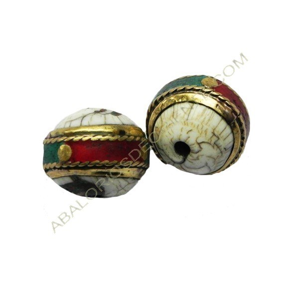 Bola de concha agujero longitudinal 18 x 21 x 21 mm