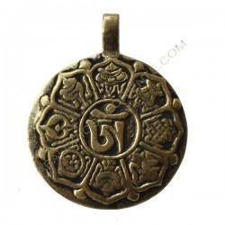 Colgante tibetano Astamangal y calendario