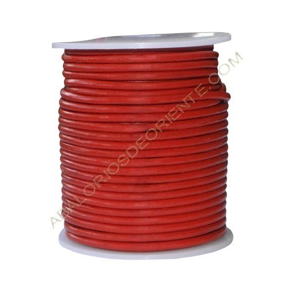 Cuero 3 mm Rojo 159