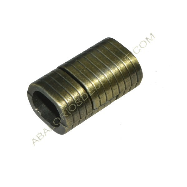Cierre magnético bronce cuero regaliz