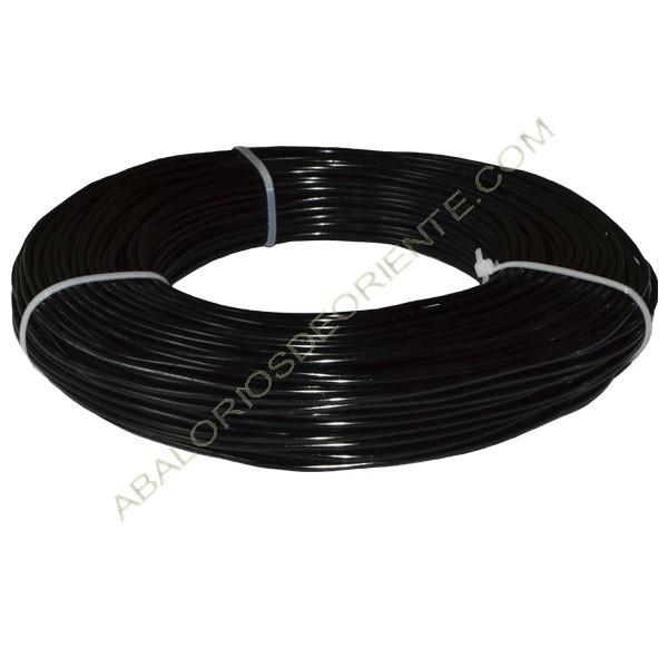 Hilo de aluminio negro 2 mm