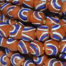 Cuenta Krobo 10 x 11 x 11 mm naranja