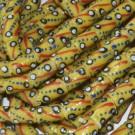 Cuenta Krobo 12 x 8 x 8 mm amarilla