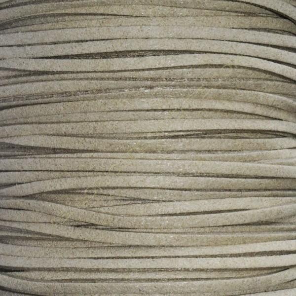 Cordón de antelina beige 3 x 1.5 mm