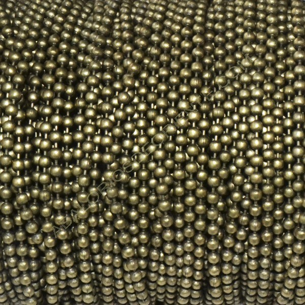 Cadena de bolas de 2 mm bronce