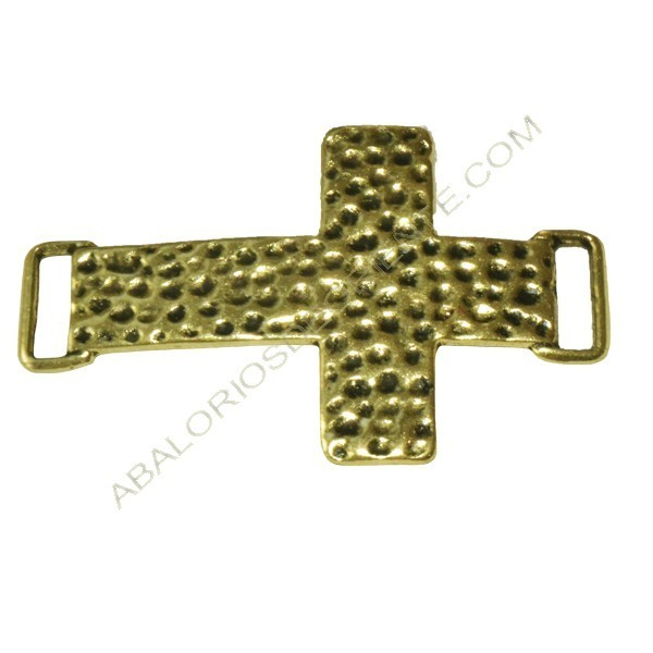 Conector cruz dorada 23 x 43 x 1 mm