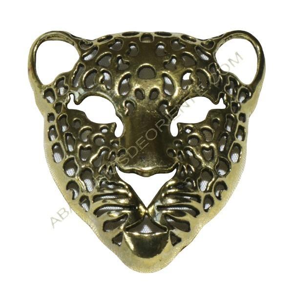 Colgante de Zamak cabeza de tigre dorado
