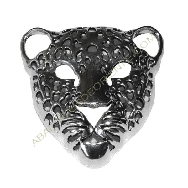 Colgante de Zamak cabeza de tigre plateado