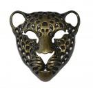 Colgante de Zamak cabeza de tigre bronce