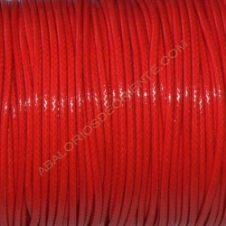 Algodón encerado brillante 1,5 mm rojo