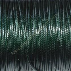 Algodón encerado brillante 1,4 mm verde botella