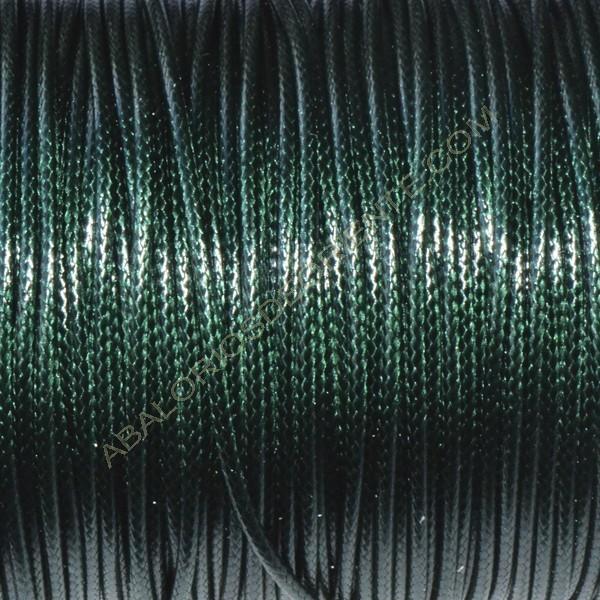 Algodón encerado brillante 1,5 mm verde botella