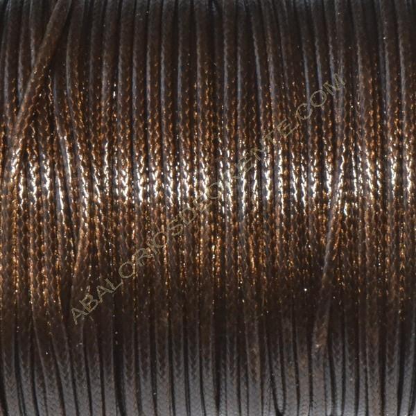 Algodón encerado brillante 1,5 mm marrón