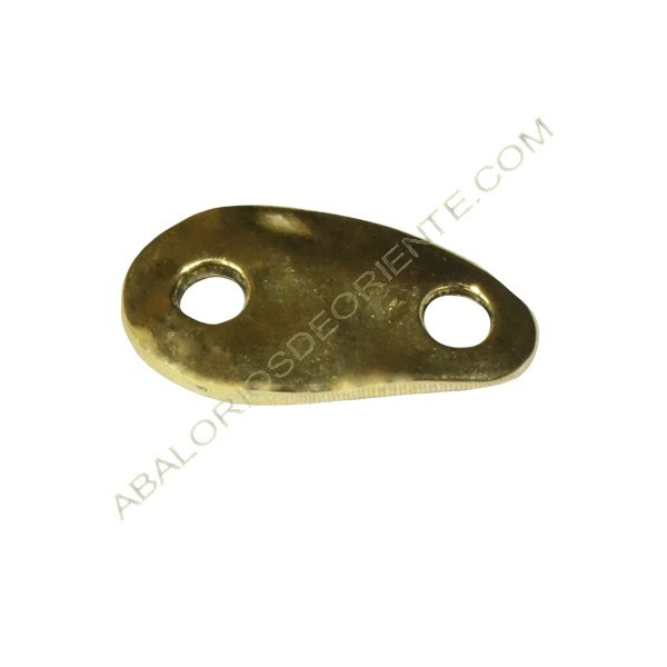 Calabrote de Zamak asimétrico dorado 16 x 29 x 3 mm