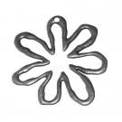 Colgante de aleación de Zinc flor plateado 64 x 62 x 2 mm