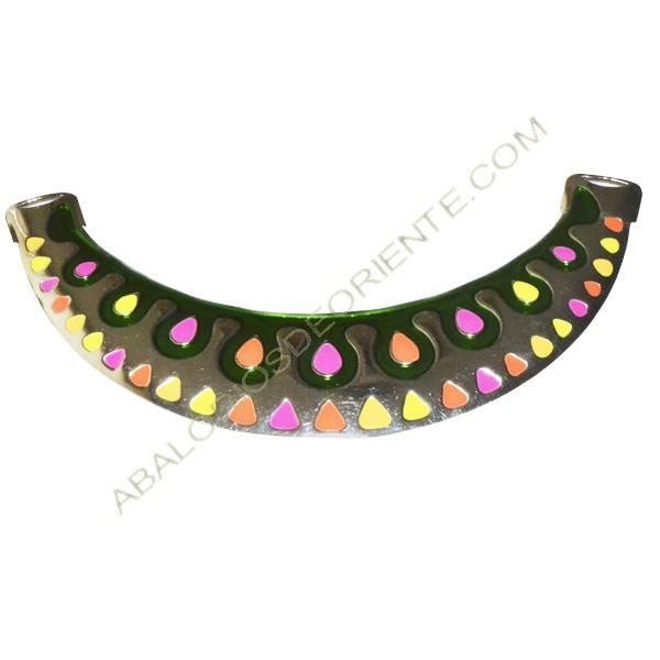 Base para collar plateado de Zamak 61 x 125 x 4 mm
