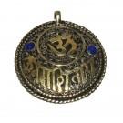 Colgante tibetano de metal doble cara con filigranas