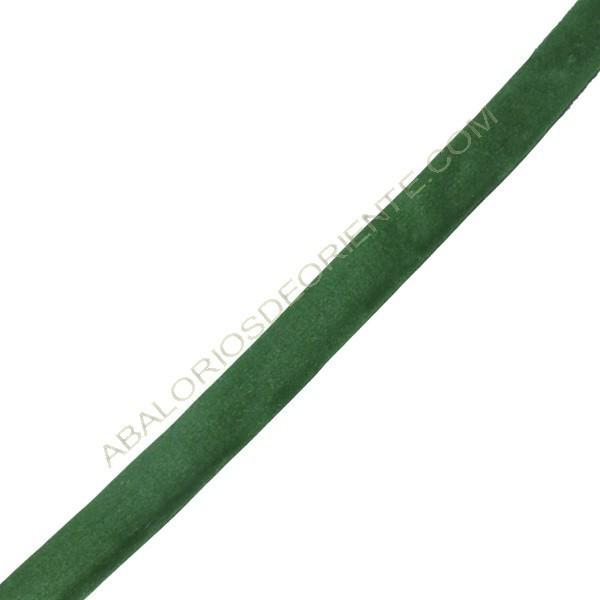 Terciopelo regaliz verde