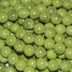Bola de cerámica titanizada verde de 13,8 x 14,8 mm.
