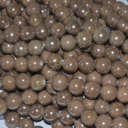 Bola de cerámica titanizada topo de 13,8 x 14,8 mm.