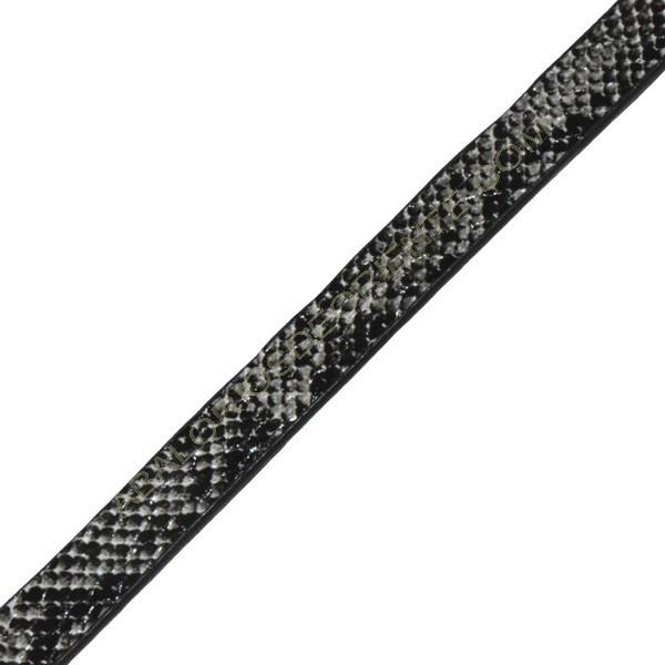Cuero plano imitación serpiente gris-2