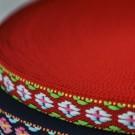 Cinta étnica roja 11 x 0,5 mm
