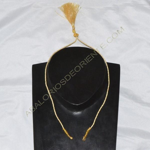 Cordón indio para collar dorado y amarillo