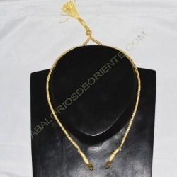 Cordón indio para collar dorado