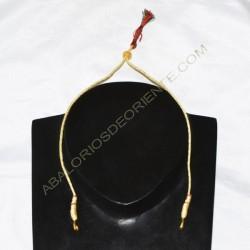 Cordón indio para collar dorado rojo y verde