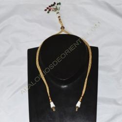 Cordón indio para collar dorado y rocalla